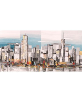 BECAUD CUADRO PANORAMICO NEW YORK MODERNO METROPOLIS Home