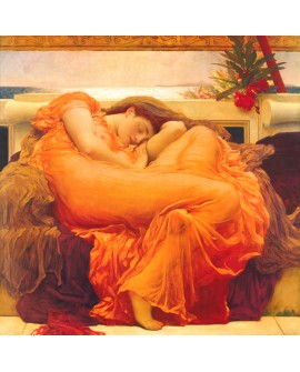 Leighton falming june siesta naranja Mural prerrafaelita decorativo Home