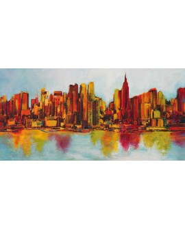 BECAUD CUADRO PANORAMICO NEW YORK MODERNO SKYLINE Home