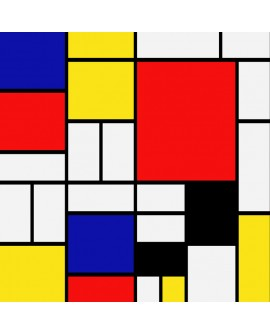 Mondrian Mural Abstracto moderno decorativo reproduccion Home