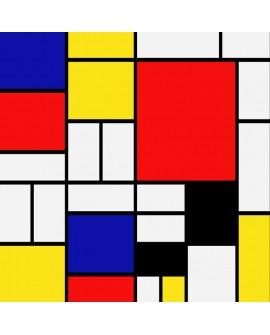 Mondrian Mural Abstracto moderno decorativo reproduccion