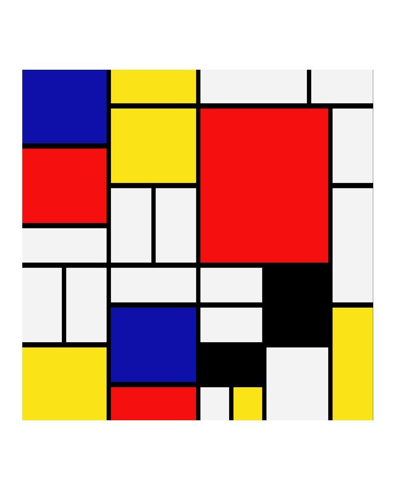 Mondrian mural abstracto moderno decorativo reproduccion for Cuadros horizontales modernos