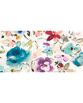 kelly parr cuadro mural cabecero flores de colores