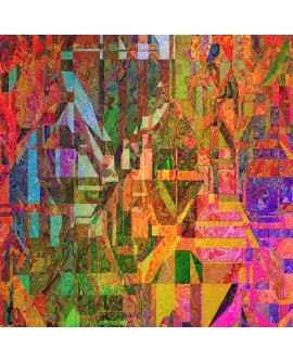 Mural Vidriera Abstracto moderno decorativo reproduccion Home