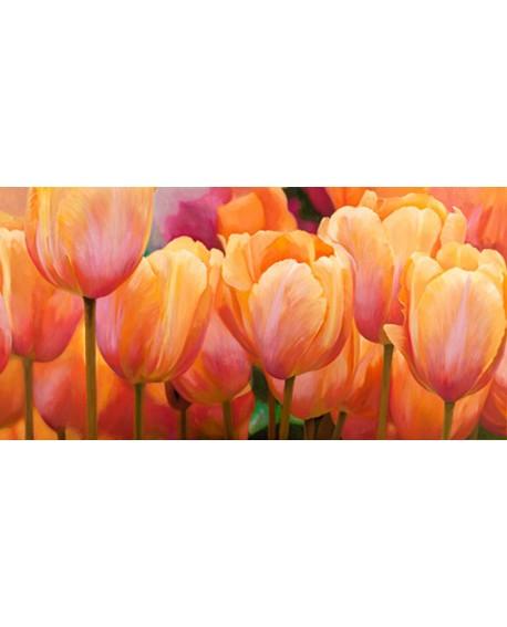 luca villa cuadro cabecero flores tulipanes panoramico Home