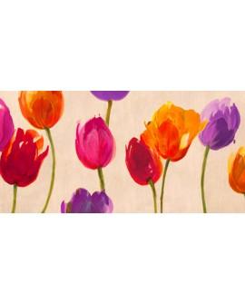 luca villa flores abstractas colores vivos tulipanes
