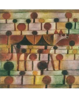 Paul klee Kamel 1920 cuadro abstracto clasico cuadrado