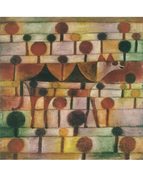 Paul klee Kamel 1920 cuadro abstracto clasico cuadrado Home