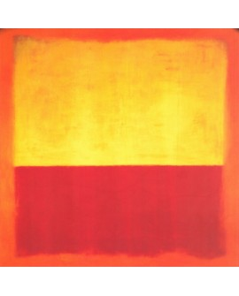 Rothko amarillo rojo cuadro abstracto moderno en tablero Home