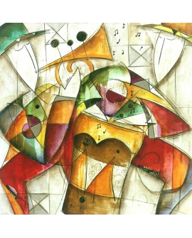 Eric Waugh Jam Session 1 Mural Abstracto moderno decorativo