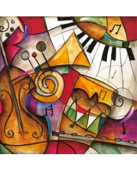 Eric Waugh Jazz - Mural Abstracto moderno decorativo