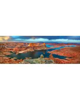 CUADRO FOTOGRAFIA MEGA PANORAMICO LAGO POWELL ARIZONA Home