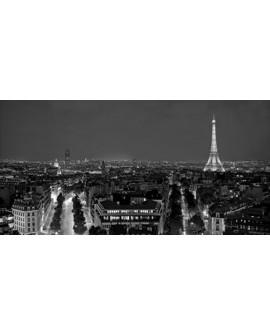 CUADRO FOTOGRAFIA BN PARIS EN LA NOCHE VINTAGE