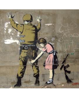 Banksy - El mundo al reves es justo - Arte Graffiti en cuadro Home
