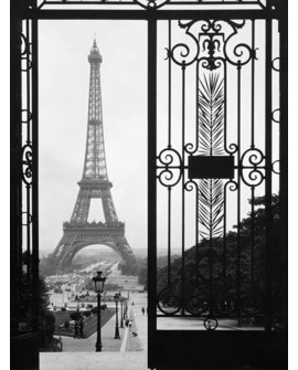 CUADRO FOTOGRAFIA PARIS BN PALACIO TROCADERO