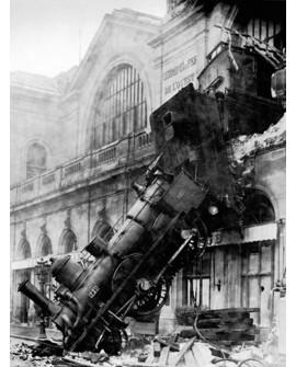CUADRO FOTOGRAFIA PARIS BN 1895 TREN MONTPARNASSE