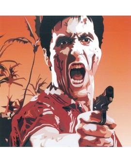 Tony Montana alpacino - Scarface Pop Art - Cuadro mural tipo comic Home