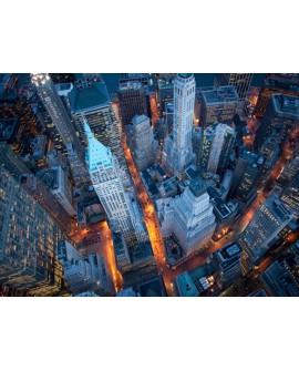 CUADRO FOTOGRAFIA VISTA AEREA WALL STREET NEW YORK