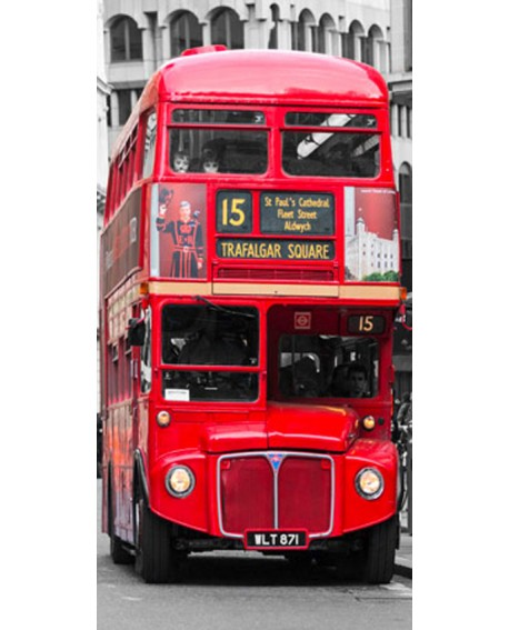 CUADRO VERTICAL FRISO AUTOBUS DOBLE ALTURA INGLES LONDRES Home