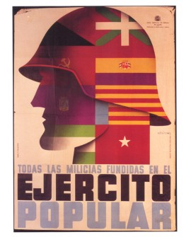 Cartel Guerra Civil Española Ejercito Cuadro Mural Home