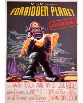 El Planeta Prohibido - Cartel de cine Ficción en Cuadro Mural. Home