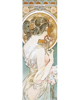 ALPHONSE MUCHA CUADRO FRISO ART NOUVEAU DECO PRIMAVERA Home