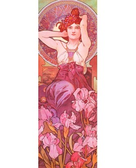 ALPHONSE MUCHA CUADRO FRISO ART NOUVEAU DECO AMETHYST Home