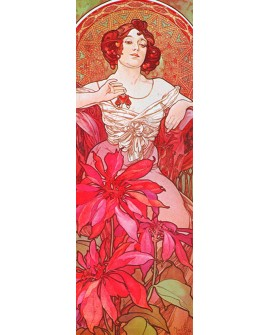 ALPHONSE MUCHA CUADRO FRISO ART NOUVEAU DECO RUBY Home