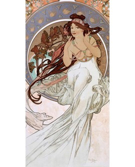 ALPHONSE MUCHA CUADRO FRISO ART NOUVEAU DECO MUSICA Home