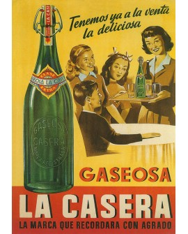 Gaseosa La Casera - Cuadro Cartel Vintage publicitario. Home