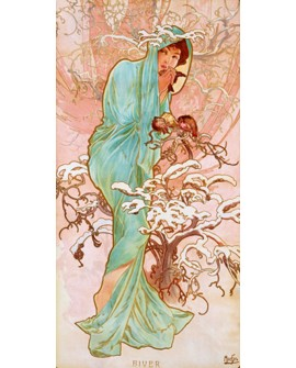 ALPHONSE MUCHA CUADRO FRISO ART NOUVEAU DECO INVIERNO Home