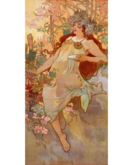 ALPHONSE MUCHA CUADRO FRISO ART NOUVEAU DECO OTOÑO Home