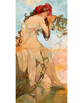 ALPHONSE MUCHA CUADRO FRISO ART NOUVEAU DECO VERANO Home
