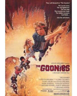 Goonies - Cartel Clasico de cine Ficción en Cuadro Mural. Home