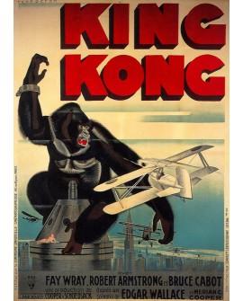 King Kong - Cartel Clasico de cine Ficción en Cuadro Mural. Home