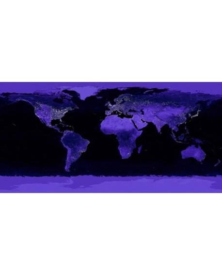 CUADRO FOTO PANORAMICA DE LA TIERRA VISTA DE NOCHE NASA Home