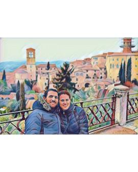 Cuadros Personalizados Retratos a partir de fotografia en Pintura