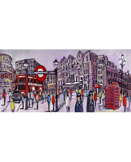 Alcala panoramica londres piccadilly circus - comic. Cuadros Horizontales