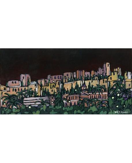 Alcala Panoramico skyline La Alcazaba de Malaga Comic Cuadros Horizontales