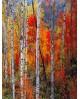 Bosque rojo en otoño - Cuadro vertical - paisaje con arboles 2 Home