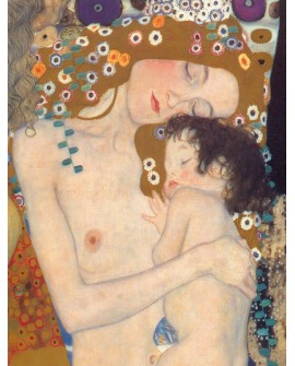Gustav Klimt La Maternidad - Cuadro Mural de Amor Impresionista Home