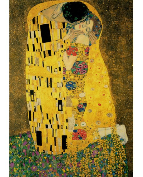 Gustav Klimt El Beso - The Kiss - Cuadro de Impresionismo Romantico Home