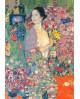 Gustav Klimt La Gueisa con flores - Cuadro Desnudo Impresionista Home