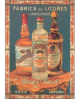 Narciso Muste Anisados - Cartel de Bebidas Españolas en Cuadro Home