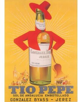 Tio Pepe - cartel en Cuadro decorativo publicitario para Bar Home