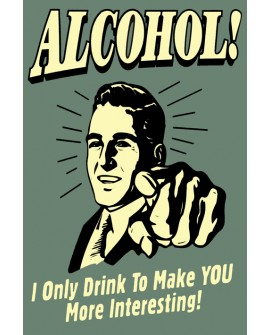 Cartel Cuadro de Bebidas y Alcohol tipo Vintage Clasico Humor Home