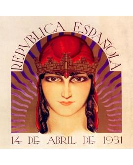 Republica Española - Cuadro Cartel Mural Alegoria del 14 abril 1931 Home
