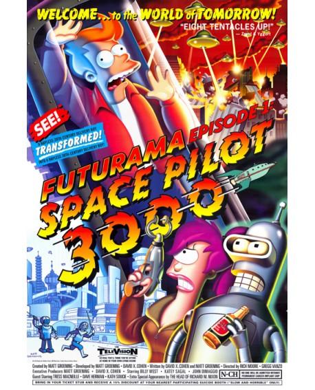 Futurama Robot Bender Episodio 1 Cuadro de television comic juvenil Home