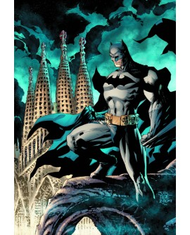Batman en Barcelona con la Sagrada Familia - Cuadro comic juvenil