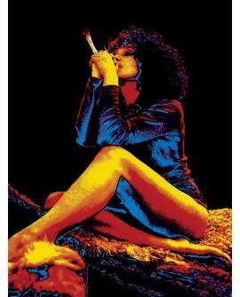 Reggae Jamaicana fumando Marihuana - Cuadro 70s
